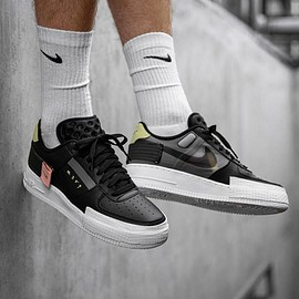 Nike - Air Force 1 Type (Black / Anthracite - Zinnia - Pink Tint)