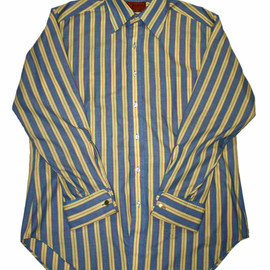 VINTAGE - Vintage 80s Kings Road Shop Sears Mens Store Striped French Cuff Button Up Shirt Mens Size 16 - 33