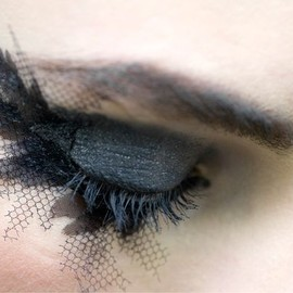 CHANEL - fishnet eyelashes