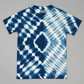 THE HILL-SIDE - Hand-Dyed Shibori T-Shirt, Natural Indigo