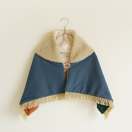 sunshine to you! - kids shawl / ash blue