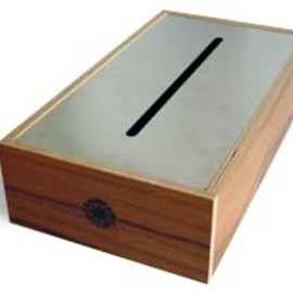 LANDSCAPE PRODUCTS - TISSUE BOX (Stainless Cover/TEAK)