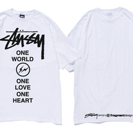 STUSSY, FRAGMENT - One World One Heart S/SL Tee