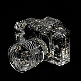 Fotodiox - Fotodiox Crystal DSLR Camera, 2/3 Size Replica (Canon EOS 7D with Zoom Lens)