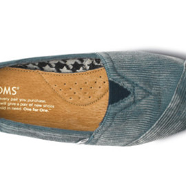 TOMS - Teal Stone-Washed Cord Women's Classics