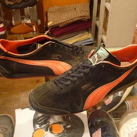 "PUMA - 「<used>80's PUMA TEMPO black/orange""made in WEST GERMANY"" size:UK9/h(28-28.5cm) 14800yen」販売中"