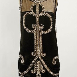 Callot Soeurs - Embroidered and beaded black silk slipper satin evening gown by Callot Soeurs, French, ca. 1925.