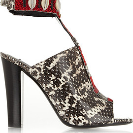 Altuzarra - Resort2015 Zephyr embellished watersnake sandals