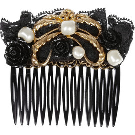 DOLCE&GABBANA - Swarovski glass pearl and lace hair slide