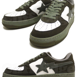 A BATHING APE - LEATHER X NUBUCK BAPE STA
