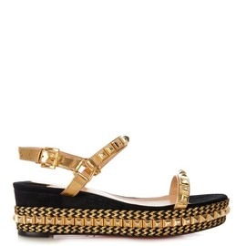 Christian Louboutin - Cataclou studded flatform sandals