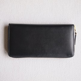 Wallet COMME des GARCONS - 二つ折りZIP長財布 SA0110 #black/classic leather