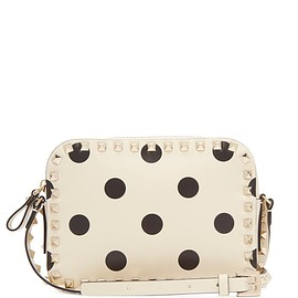 VALENTINO - Pre-Fall 2018 Rockstud camera polka-dot leather cross-body bag