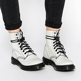 Dr.Martens - Image 1 of Dr Martens Core Pascal White/Black 8 Eye Ankle Boots