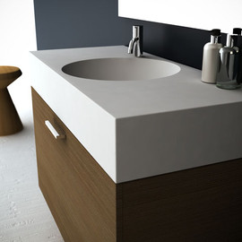 Latis Bath with Timber Storage End