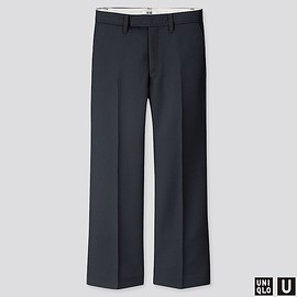 Uniqlo - Women U Wool-blend Flare Pants, Dark Gray, Large