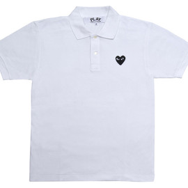 PLAY COMME des GARCONS - Black Play Polo Shirt (White)