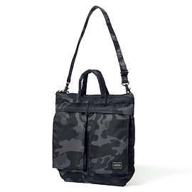 "HEAD PORTER - ""JUNGLE"" MINI HELMET BAG BLACK"