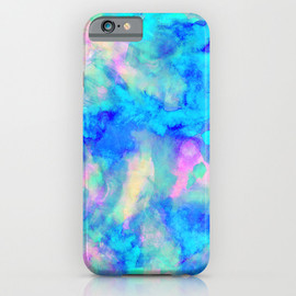 Society6 - Electrify Ice Blue iPhone Case
