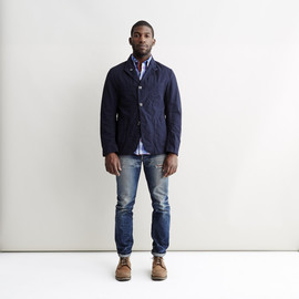 Engineered Garments - Navy Ripstop Bedford