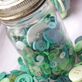Luulla - Bottle Green Buttons X 50g Mixed Green Buttons