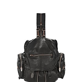 Alexander Wang - MINI MARTI BACKPACK IN WASHED BLACK WITH ROSE GOLD