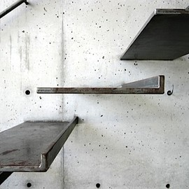 minimal raw steel stairs