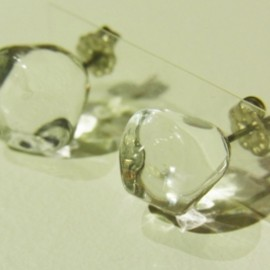 glass cell earring