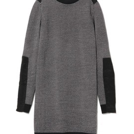 3.1 Phillip Lim - tweed stitch dress w/ribbed back inset