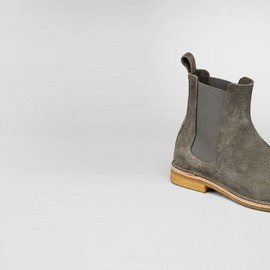 bottega veneta - shadow buffalo leather ankle boot
