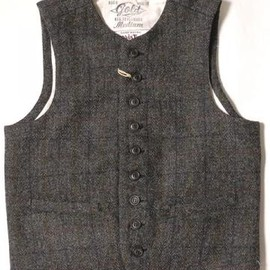 GOLD - GOLD(ゴールド) Harris Tweed CHECK CREW NECK VEST GL12613