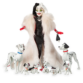 Disney - Cruella De Vil and Dalmatians Doll Set
