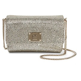 Jimmy Choo - Ruby glittered canvas shoulder bag