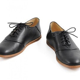 OPENING CEREMONY - M9 SADDLE SHOE LEATHER BLACK