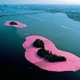 Christo and Jeanne-Claude - Surrounded Islands, Biscayne Bay, Greater Miami, Florida, 1980-83