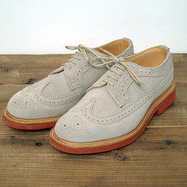 Mark McNairy New Amsterdam - STONE SUEDE LONG WING BROGUE SHOES