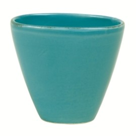 rice - Oval Tea Cup in Solid Turquoise