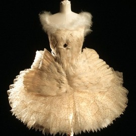 Anna Pavlova's costume designed by Leon Bakst for Swan Lake (1905)