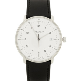 Max Bill by Junghans - Stainless Steel and Leather Automatic Watch