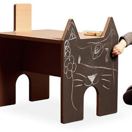 NCtoys - Anymal chalkboard table and stools