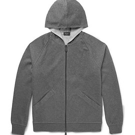 Berluti - Double-Faced Cotton-Blend Jersey Zip-Up Hoodie
