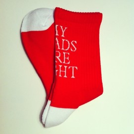 MY LOADS ARE LIGHT - M.L.A.L SOX new arrival / red × white