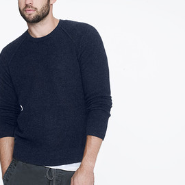 James Perse - CASHMERE THERMAL STITCH CREW