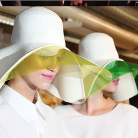 Hussein Chalayan Black - SS 2013 Hat with Visor