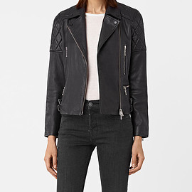 All Saints - Women's Armstead Leather Biker Jacket (Black) -