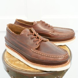 Russell Moccasin - FISHING OXFORD TRIPLE VAMP BROWN CHROMEXCEL