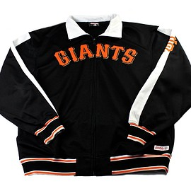 MLB - San Francisco Giants Black MLB Track Jacket Mens Size Large