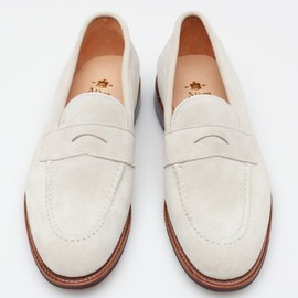 Alden - White Suede Loafer