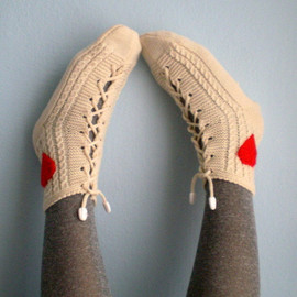 fizzaccessory - Cream Slipper Socks