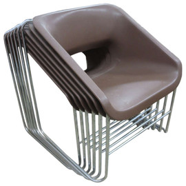 Set of Six Lotus Chairs Designed by Paul Boulva